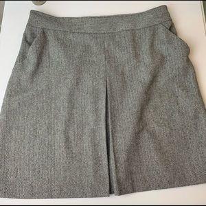 Worthington Black & White Herringbone Tweed Skirt